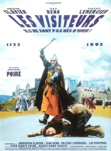French comedies Les visiteurs poster