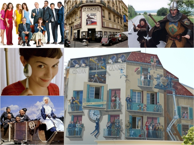 French comedy films collage