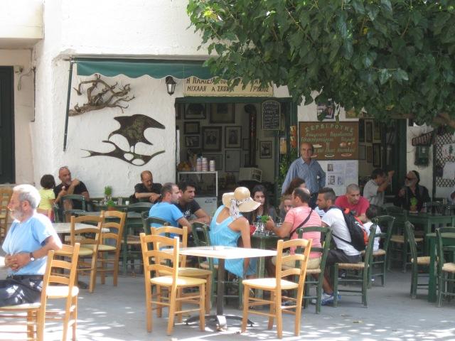 Crete Anogeia cafenio