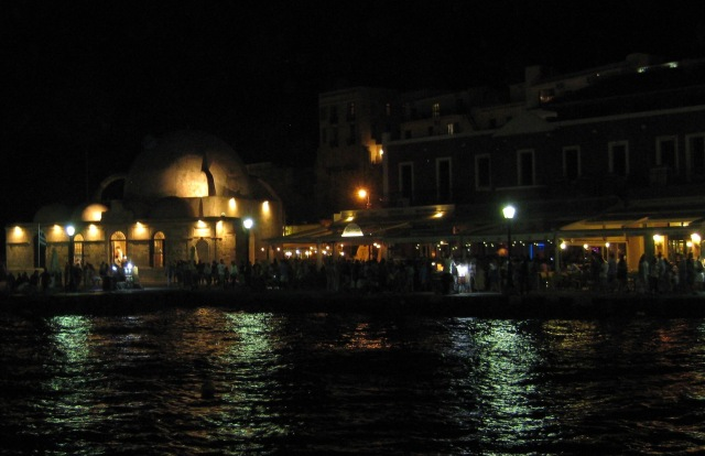 Crete Chania at night resized 2