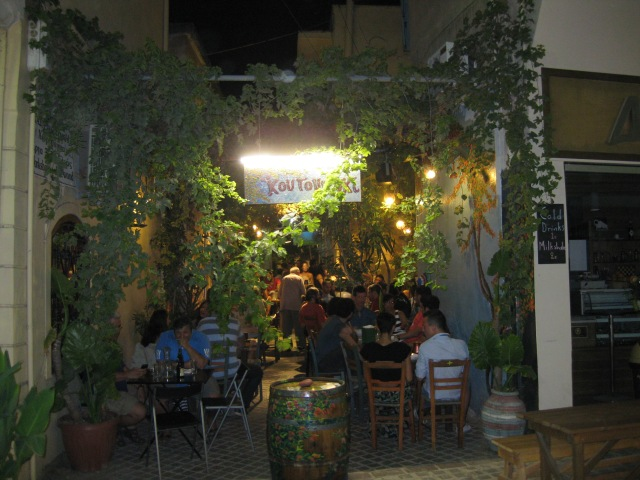 Crete Chania night Koutouki