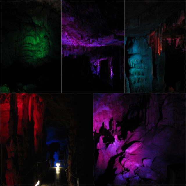 Crete Zoniana cave Collage