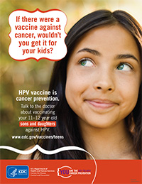 HPV cancer vaccine flyer - 8-1/2 x 11