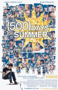 Unconventional love 500 days of Summer poster